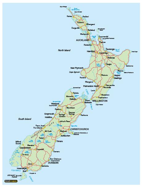 Map Of South Island New Zealand Google Maps
