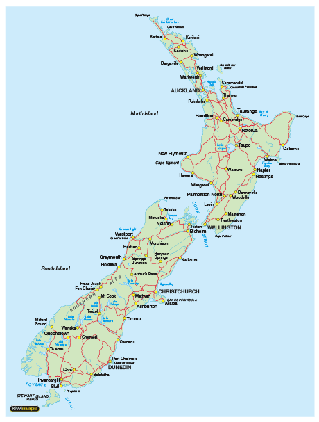Map Of Palmerston North New Zealand.Kiwmaps New Zealand S Best Selling Maps